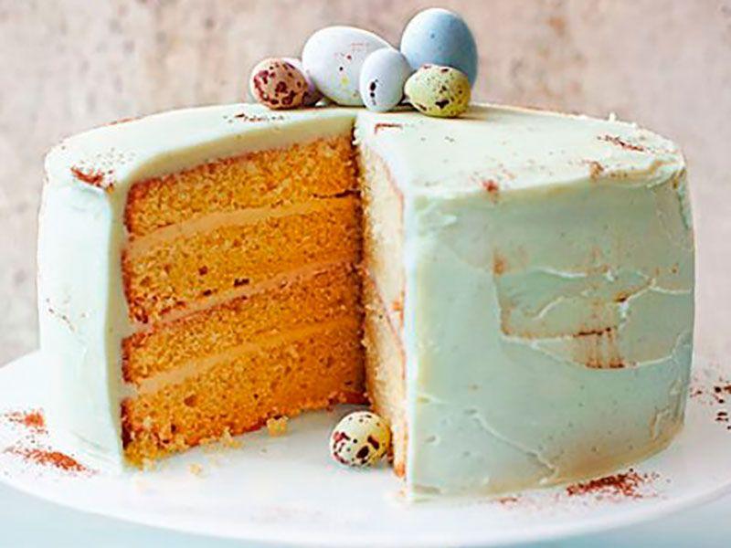 Бисквитный торт с утиными яйцами