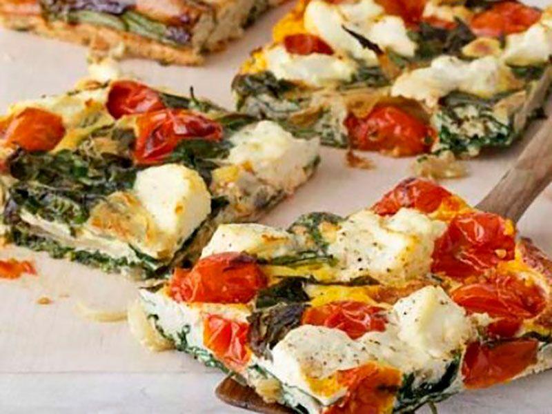 Фриттата с овощами и сыром в духовке
