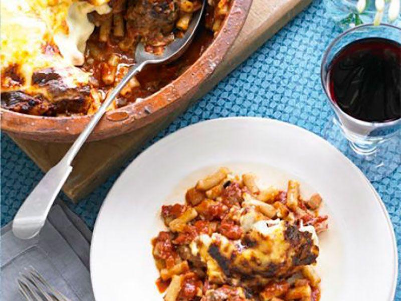 Итальянская запеканка из макарон с фаршем в духовке