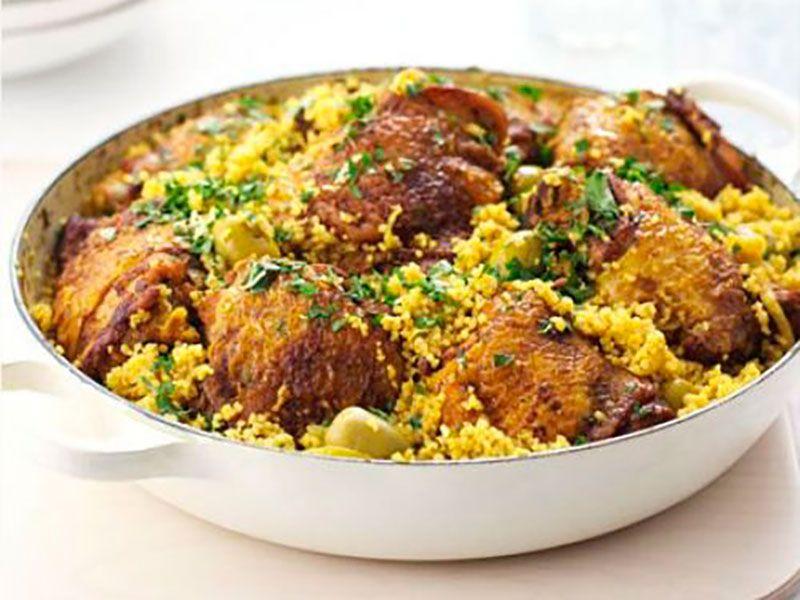 Курица по-мароккански с кускусом