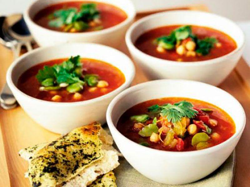 Марокканский суп из нута