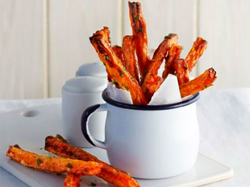 Морковные чипсы в духовке