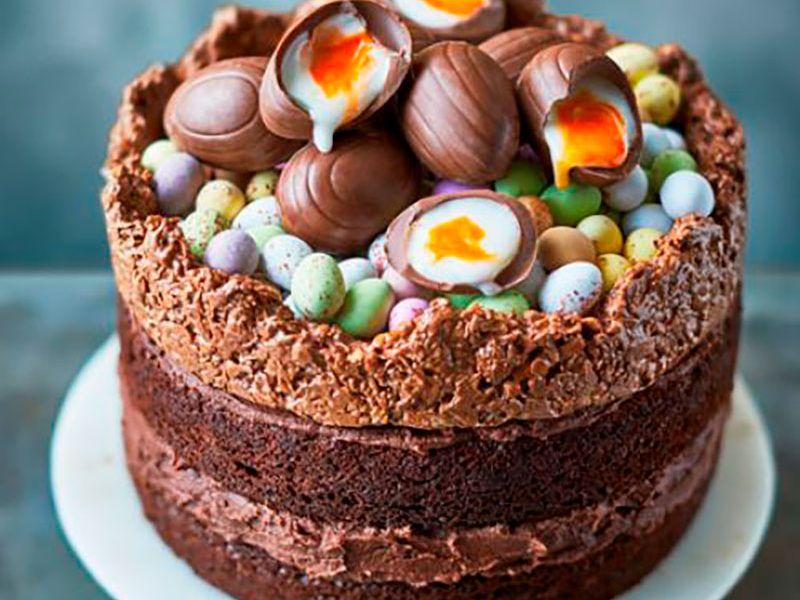 Пасхальный торт Гнёздышко